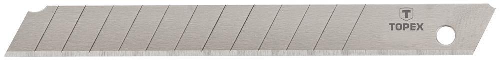 Леза TOPEX, що вiдламуються, змiннi, 18 мм, набiр 10 шт.