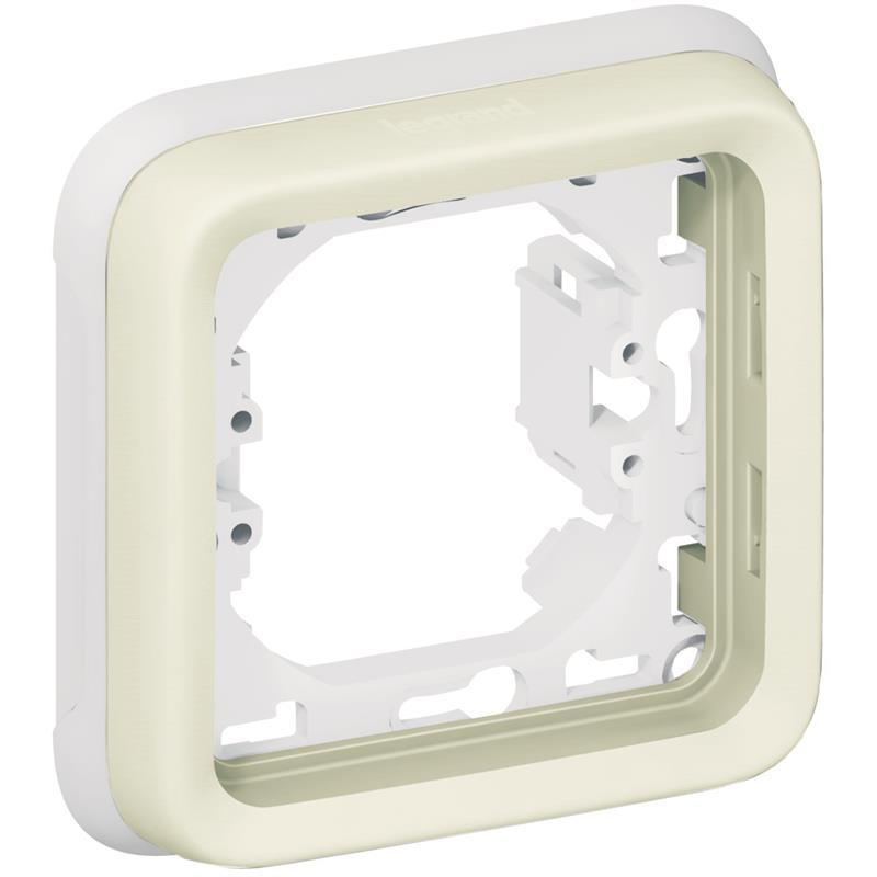 Plexo Legrand Супорт з рамкою для вбудованого монтажу 1 пост, білий