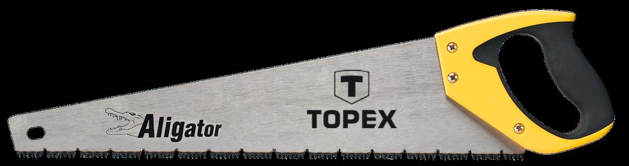 """Пилка TOPEX по дереву,  450 мм, """"Aligator"""", 7TPI"""