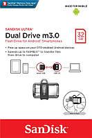 Накопичувач SanDisk 32GB Ultra USB 3.0 Dual Drive m3.0 OTG