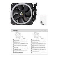 Корпусний вентилятор Antec Prizm 120 ARGB, 120мм, ARGB, 4/3 пін, чорні лопасті, біла рамка