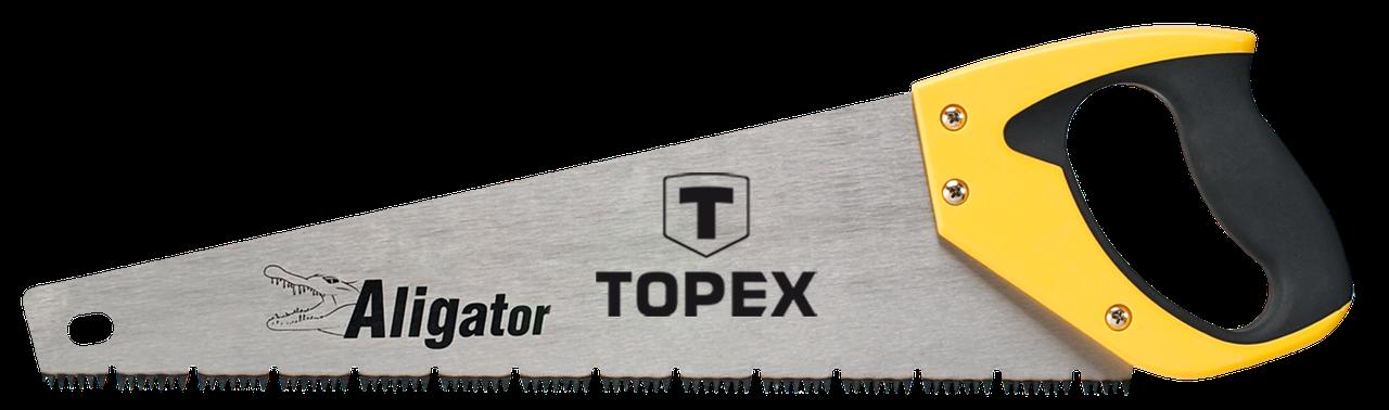 """Пилка TOPEX по дереву,  400 мм, """"Aligator"""", 7TPI"""