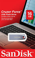Накопичувач SanDisk 16GB USB Cruzer Force Metal Silver