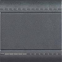 Bticino LivingLight Вимикач з гвинтовими клемах, розмір 2 модуля, колір антрацит