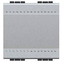 Bticino LivingLight Перемикач з автоматичними клемах, розмір 2 модулі, колір алюміній