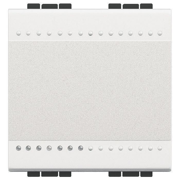Bticino LivingLight Перемикач з автоматичними клемами, розмір 2 модуля, колір білий