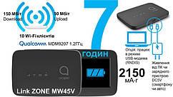 Мобільний маршрутизатор Alcatel LINKZONE LTE Mobile WiFi (MW45V) microUSB/1x3FF SIM/2150mAh Black