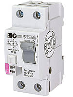 Диференціальне Реле ETI (УЗО) EFI-2 63/0,3 тип AC (10kA)