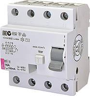 Диференційне Реле (ПЗВ) ETI EFI-4 16/0,1 тип AC (10kA)