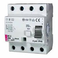 Диференційне Реле (УЗО) ETI, EFI6-4 40/0,03 тип AC (6kA)