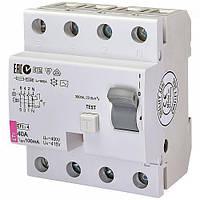 Диференційне Реле ETI (УЗО) EFI-4 40 / 0,1 тип AC (10kA)