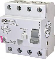 Диференційне Реле ETI (УЗО) EFI-4 63 / 0,3 тип AC (10kA)