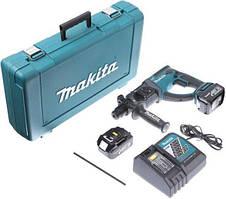 Перфоратор Makita DHR202RX4 акумуляторний, SDS-plus, 2Дж, LXT 18, 3 Аг