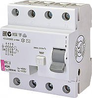 Диференційне Реле ETI (УЗО) EFI-4 40 / 0,3 тип AC (10kA)