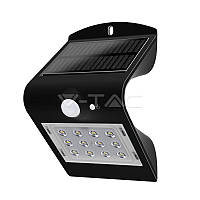 Світильник вуличний LED Solar V-TAC, SKU-8277, 1.5 W, 4000К, датчик руху, чорний