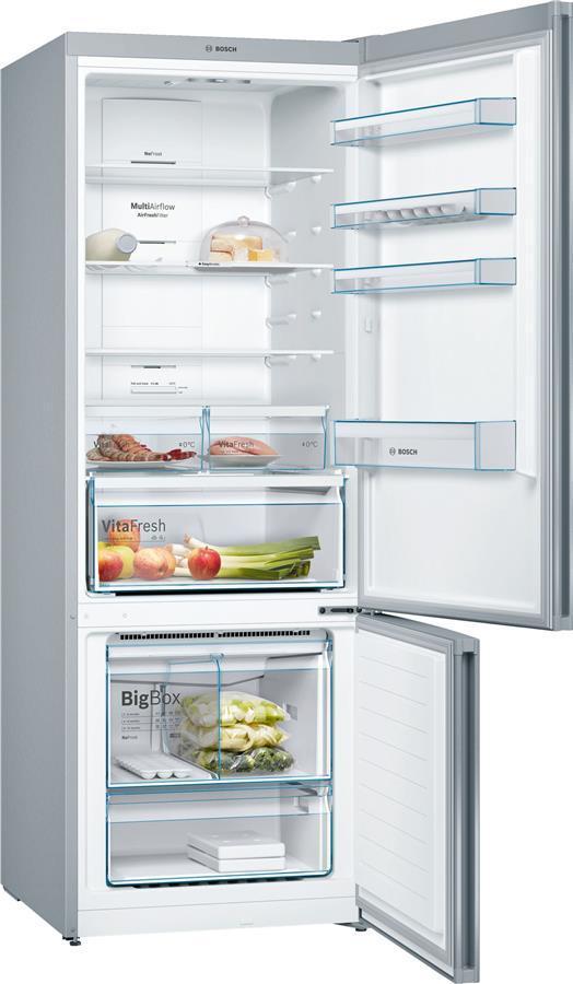 Холодильник Bosch KGN56VI30U з нижньою морозильною камерою - 193x70x80/505 л/No Frost/дисплей/А++/сірий