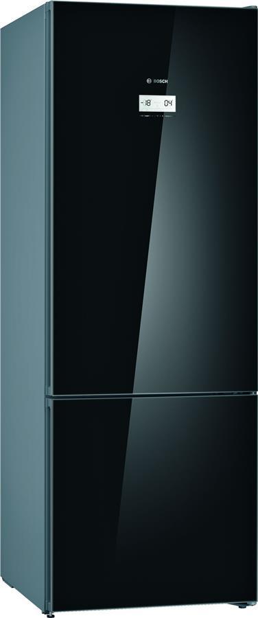 Холодильник Bosch KGN56LBF0N з нижньою мороз. кам. - 193x70x80/505 л/No-Frost/А++/чорне скло
