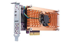 Адаптер QNAP Dual M. 2 22110/2280 PCIe NVMe SSD expansion