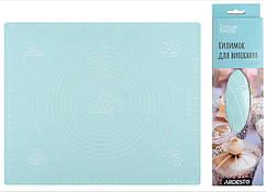 Килимок для випікання Ardesto Tasty baking 50*60 см, голубий, силіконовий