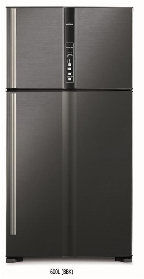 Холодильник Hitachi R-V720PUC1KBBK верх. мороз./ Ш910xВ1835xГ771/600л/A++/Чорний