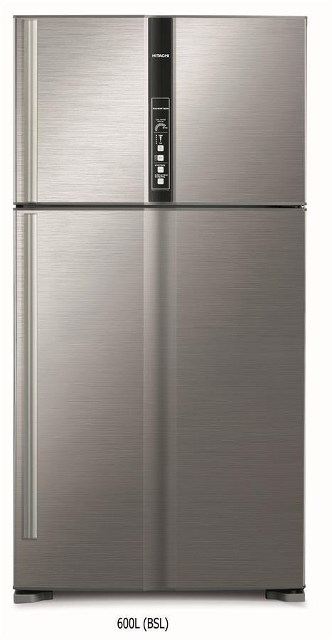 Холодильник Hitachi R-V720PUC1KBSL верх. мороз./ Ш910xВ1835xГ771/600л/A++/Нерж.сталь