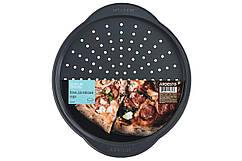 Форма для випікання Ardesto Tasty baking піцци 37*33*1,8 см, сірий,голубий, вуглецева сталь