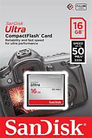 Карта пам'яті SanDisk 16GB CF Ultra R50MB/s