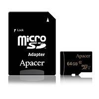 Карта пам'яті Apacer microSDXC 64GB C10 UHS-I + SD