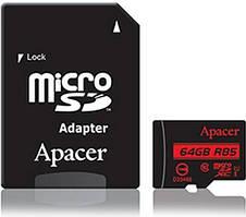 Карта пам'яті Apacer microSDXC 64GB C10 UHS-I R85MB/s + SD