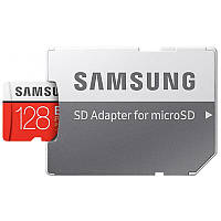Карта пам'яті Samsung 128GB microSDXC C10 UHS-I U3 R100/W60MB/s Plus Evo V2 + SD адаптер