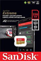 Карта пам'яті SanDisk 256GB microSDXC C10 UHS-I U3 R160/W90MB/s Extreme V30