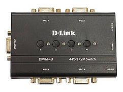 KVM-перемикач D-Link DKVM-4U 4port, w/USB
