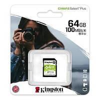 Карта пам'яті Kingston 64GB SDXC C10 UHS-I R100MB/s