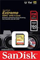 Карта пам'яті SanDisk 256GB SDXC C10 UHS-I U3 R150/W70MB/s Extreme
