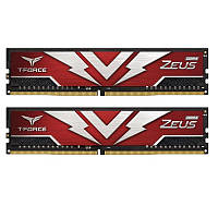 Модуль памяти DDR4 2х8GB 2666MHz Team T-Force Zeus Red (TTZD416G2666HC19DC01)
