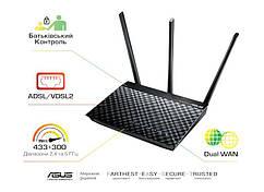 ADSL-роутер ASUS DSL-AC51 AC750 ADSL2+/VDSL2 AC750, 1xRJ11xDSL, 2xGE LAN/WAN