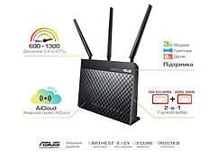ADSL-роутер ASUS DSL-AC68U ADSL2+/VDSL2 802.11 ac AC1900, 1xRJ11xDSL, 4xLAN Gbps, 1xUSB 3.0