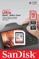 Карта пам'яті SanDisk 16GB SDHC C10 UHS-I R80MB/s Ultra