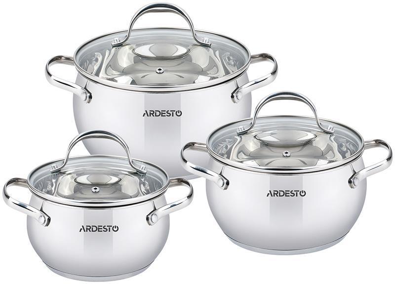 Набір посуду Ardesto Gemini Vittoria 6 пред., нержавіюча сталь
