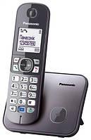 Радіотелефон DECT Panasonic KX-TG6811UAM, Metallic