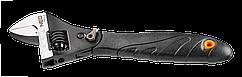 Ключ NEO розвiдний з трiскоткою 200 мм, храповий механiзм, гумоване ергономiчне рукiв'я