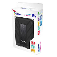 """Жорстку диск ADATA 2.5"""" USB 3.1 2TB HD710 Pro захист IP68 Black"""