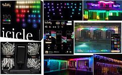 LED Гірлянда Twinkly є icicle RGBW 190, Gen II, IP44, довжина 5м, прозорий кабель