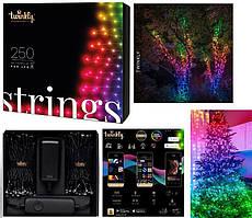 LED Гірлянда Twinkly Strings RGB 250, Gen II, IP44, довжина 20м, кабель чорний