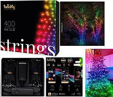 LED Гірлянда Twinkly Strings RGB 400, Gen II, IP44, довжина 32м, кабель чорний