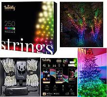 LED Гірлянда Twinkly Strings RGBW 250, Gen II, IP44, 20м, прозорий кабель