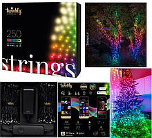 LED Гірлянда Twinkly Strings RGBW 250, Gen II, IP44, довжина 20м, кабель чорний