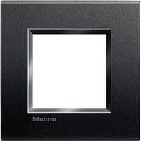 Bticino LivingLight Рамка прямокутна, 1 пост, колір Антрацит
