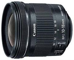 Об'єднання єктив Canon EF-S 10-18mm f/4.5-5.6 IS STM