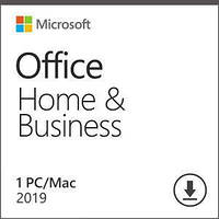 Програмний продукт Microsoft Office Home and Business 2019 All Lng PKL Onln CEE Only DwnLd C2R NR